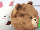 日本人气APP LINE表情 布朗熊毛绒化妆包 布朗熊手包 厂价