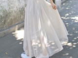 2014新款长裙 仙仙美搭两穿网纱蓬蓬半身裙