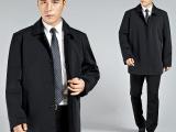 花花公子秋冬新款男士夹克外套中老年中长款男装爸爸装批发零售