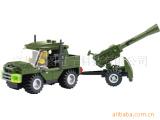 加农炮 KZ6041塑料拼装小颗粒 儿童积木玩具 批发代发