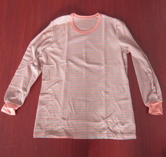 负离子磁疗抗菌防辐射远红外磁疗条纹套服 保暖内衣