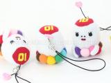 卡通八爪鱼毛绒公仔挂件  玩具小号包包挂件  日本品质小挂饰