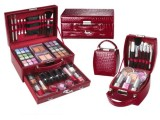 供应批发 自动开粉色连体化妆箱 大容量首饰化妆箱 物美价廉