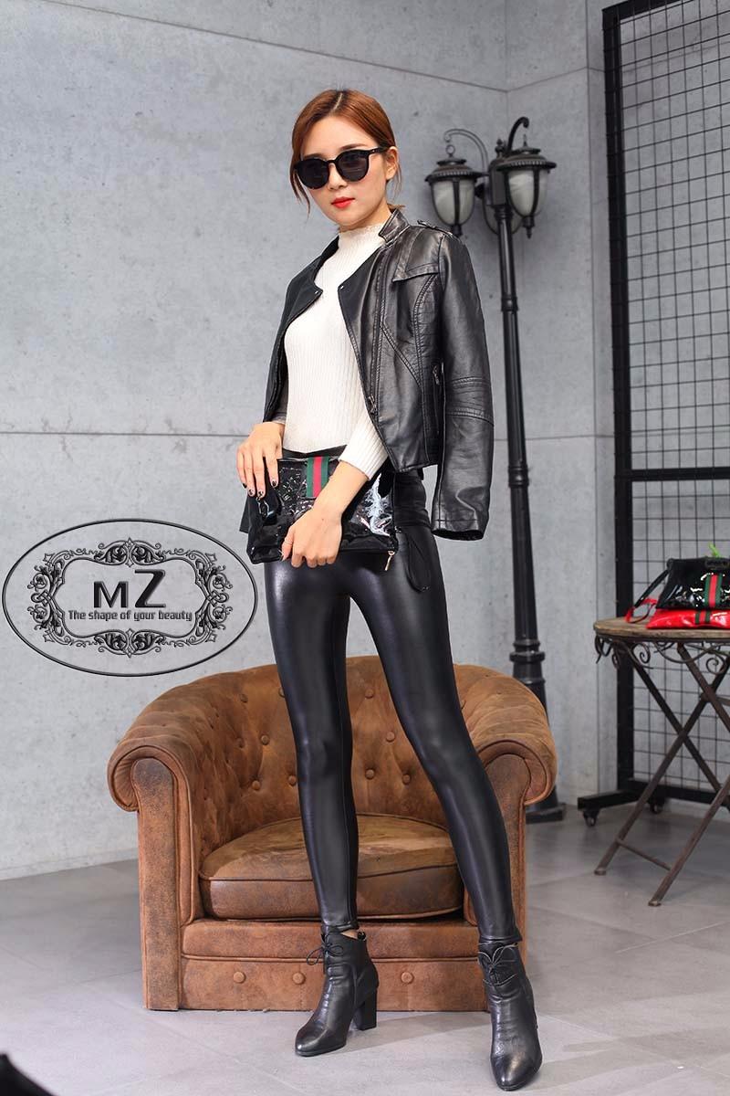 义乌mz女士加绒加厚时尚皮裤