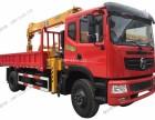 12吨随车吊平板运输车生产厂家