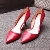 欧洲站2015春季新款潮女鞋高跟鞋子浅口绒面尖头单鞋微信一件代发