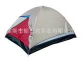 银灰色二人双层防水户外野营露营帐篷