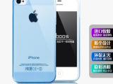 双色iphone5/4s手机保护套 5S透明光面手机壳带防尘塞清