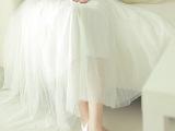 2014春季新款半身长裙 网纱裙半身裙 波西米亚长裙子 蓬蓬裙