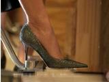2014欧美时尚性感细跟尖头金色女士单鞋内里羊皮真皮女鞋婚鞋批发