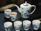 茶具陶瓷套装 6头青花瓷茶具 礼盒礼品套装 高档大茶壶礼品套装