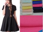 2015新款女装时装裙子面料批发 现货化纤仿竹节麻提花雪纺布料