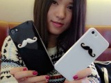 苹果iphone4s情侣胡子手机壳 苹果手机保护套壳 贴钻壳 分