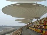 热销浙江学校遮阳棚 体育场看台 膜结构景观看台包设计