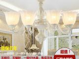 新款欧式客厅吊灯 卧室led树脂铁艺吊灯 餐厅灯具 家居灯饰批发