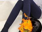 乐贝尚 加绒加厚无缝一体裤 七彩棉打底裤大码秋冬保暖裤踩脚裤