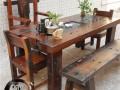 老船木实木家具阳台小茶台