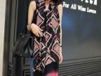 2013新款 外贸原单波西米亚民族菱形几何流苏丝巾纱巾围巾披肩