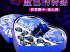 创意蓝色心形巧克力礼盒爱心糖果礼盒圣诞礼
