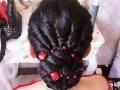 海城专业化妆师米粒 新娘跟妆提供新款饰品免费试妆