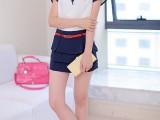 2014实拍 夏季新款短裙 韩版半身裙 送腰带