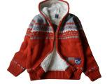 童装厂家直销 儿童加绒纯棉毛衣外套 保证不起球 韩版小熊童棉衣