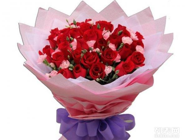 鸿博33朵红玫瑰花束绵阳鲜花速递全国生日德阳广元鲜花店宜宾送花