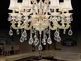 批发 欧式简约水晶灯蜡烛吊灯 k9水晶吊灯 led客厅水晶吸顶灯