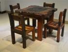 老船木茶桌椅组合方形中式家具实木客厅整装茶台