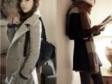 2014春秋女装欧美新款呢子大衣 中长款风衣女毛呢女外套 一件代
