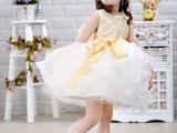 供应六一儿童礼服裙花童礼服公主裙百天周岁礼服裙舞蹈表演服装