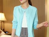 2015春季新款韩版 宽松纯色长袖镂空 丝光棉针织开衫外套批发