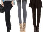 2014 秋冬装新品女装假两件加绒加厚显瘦 长裤 大码百褶 打底裤