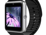厂家批发GT08插卡电话男士智能手表拍照聊天微信蓝牙成人穿戴设备