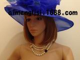 欧美英伦风欧根纱花朵纯色舞会走秀宴会帽时尚派对沙滩帽厂家直销