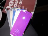 苹果6代iPhone6plus4.7寸彩色前后镜面贴膜电镀钢化玻