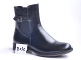 欧美新款秋冬真皮女靴头层牛皮外贸出口平底马丁靴品牌短靴子潮