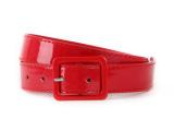 女士百搭 纯红色腰带 显眼 点缀 本命年必备红色腰带