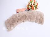 优质獭兔毛领批发 优雅高档柔软舒适女士獭兔方领 可订制订做