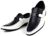 新款尖头皮鞋 男 韩版英伦商务休闲增高男士时尚潮流低帮男鞋批发