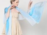 真丝雪纺丝巾渐变围巾高档100%桑蚕丝披肩大牌订单尾单数量有限