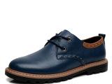 春季男士休闲鞋男鞋真皮皮鞋头层皮 商务休闲皮鞋英伦透气鞋子男