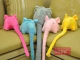 六一 长鼻象公仔大象毛绒玩具 可爱的象鼻子儿童身高计量标尺
