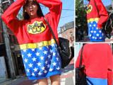 2014新品 蝙蝠侠超人加绒长款卫衣(亲们是好面料来的哦!)批发