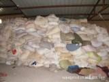 纺织废料、废旧衣服〔各种纯白色化纤开花料〕