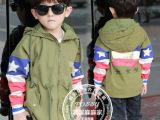 儿童美国国旗袖子风衣 童装2014新款秋装男童韩版外套 宝宝上衣