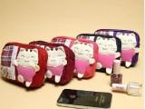 台湾阿拉工坊-阿拉猫双层手抓包/零钱包AL869礼品包
