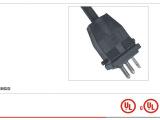 供应美国标准延长线/插头电源线 美式/欧式橡胶线