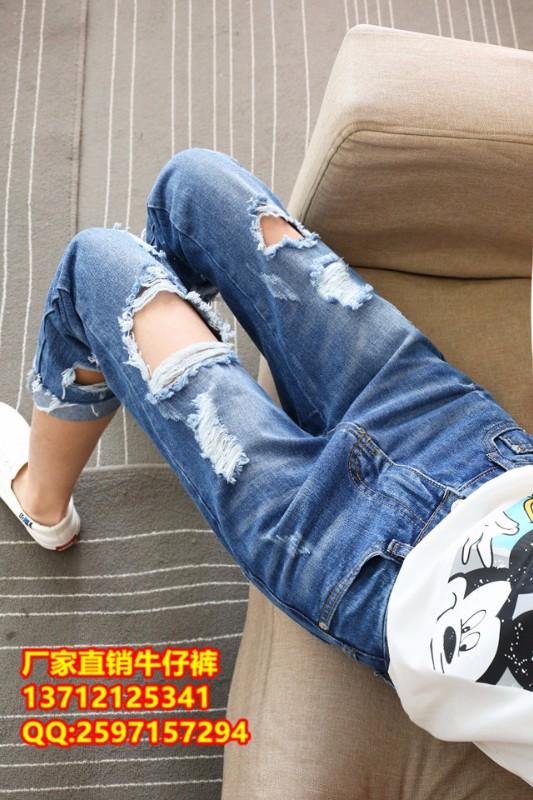 北京动物园服装批发有品牌库存牛仔裤批发厂家外贸10元牛仔裤