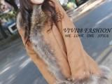 日系原单正品超级奢华狐狸毛贵气时尚皮草大
